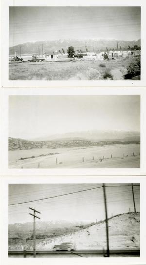 Primary view of object titled '[Three Photographs of California Scenery in Snow]'.