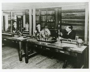 Primary view of object titled '[Photograph of Physics Lab]'.
