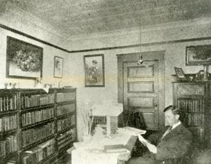 Primary view of object titled '[Photograph of Daisy Hall Library]'.