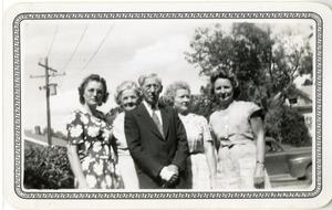 Primary view of object titled '[Photograph of Jesse P. Sewell and Four Women]'.