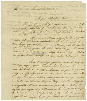 Primary view of object titled '[Letter from Mexia to Zavala, February 13, 1833]'.