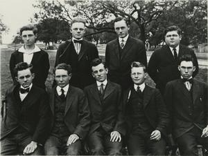 Primary view of object titled '[Photograph of a Group of Young Men]'.