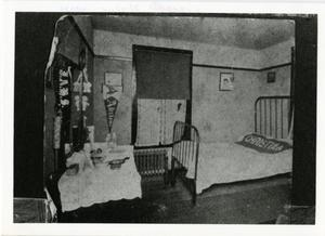 Primary view of object titled '[Photograph of Daisy Hall Dorm Room]'.