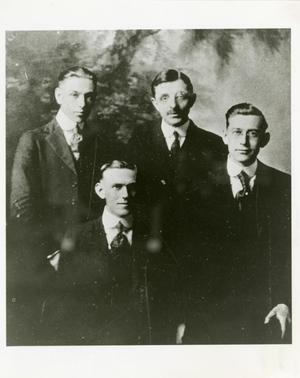 Primary view of object titled '[Photograph of 1920 College Quartet]'.