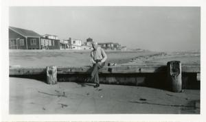 Primary view of object titled '[Photograph of James H. Sewell on Pier]'.