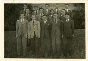 Primary view of object titled '[Photograph of Abilene Christian College History Class]'.