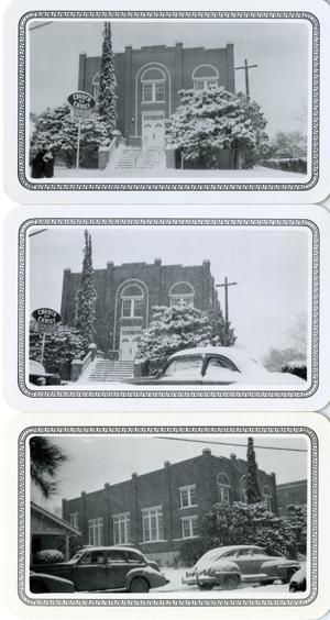 Primary view of object titled '[Three Photographs of Grove Avenue Church of Christ]'.