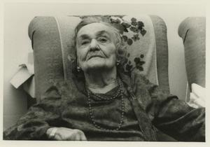 Primary view of object titled '[Photograph of Buelah Arvin in Assisted Living]'.