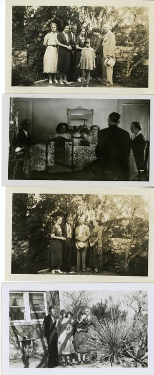 Primary view of object titled '[Four Photographs of Individuals at Duncan Home]'.