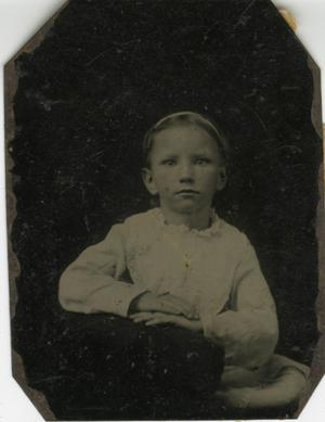 Primary view of object titled '[Portrait of Young Girl]'.