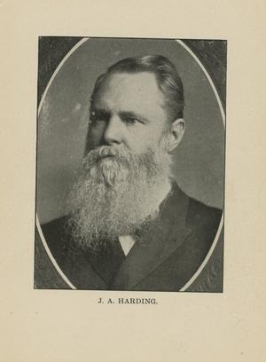 Primary view of object titled '[Portrait of J.A. Harding]'.