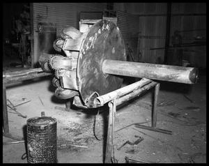 Primary view of object titled 'Oil Bits at Phillips Welding #1'.