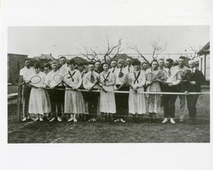 Primary view of object titled '[Photograph of Tennis Players]'.
