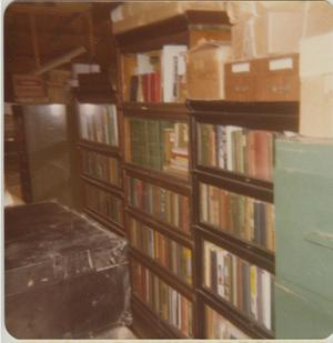 Primary view of object titled '[Photograph of Robbins Railroad Collection Books]'.