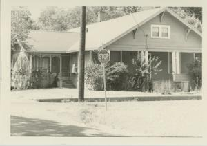 Primary view of object titled '[Photograph of House on the Corner]'.