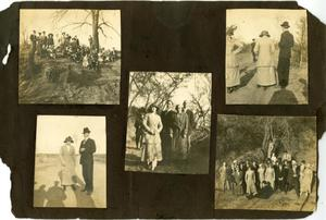 Primary view of object titled '[Five Photographs of a Group Outside]'.