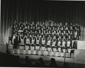 Primary view of object titled '[Photograph of Raggedy Anns at Sing Song]'.