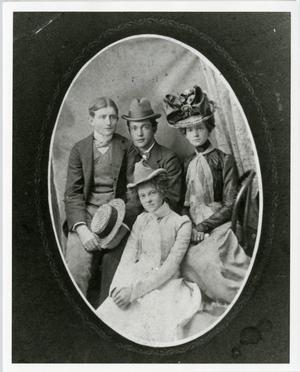 Primary view of object titled '[Studio Portrait of A.B. Barrett with Friends]'.