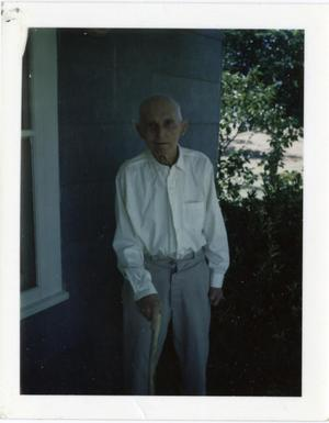 Primary view of object titled '[Photograph of J.S. Burgess at Rest Home]'.