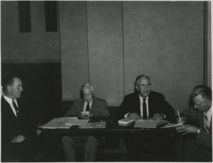 Primary view of object titled '[Photograph of Jesse P. Sewell at Meeting]'.