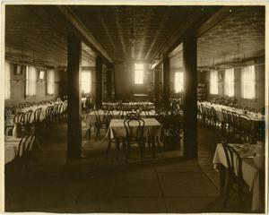 Primary view of object titled '[Photograph of Old Dining Hall]'.