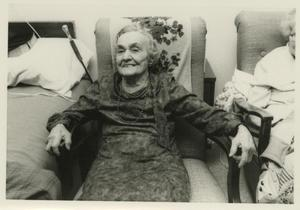 Primary view of object titled '[Photograph of Buelah Arvin and Roommate in Assisted Living]'.