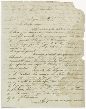 Primary view of object titled '[Letter from Mexia to Zavala, January 16, 1833]'.