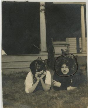 Primary view of object titled '[Photograph of Women in Front Lawn]'.