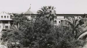 Primary view of object titled '[Photograph of Large Spanish-Style Building]'.
