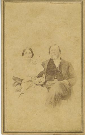 Primary view of object titled '[Portrait of a Man and a Woman]'.