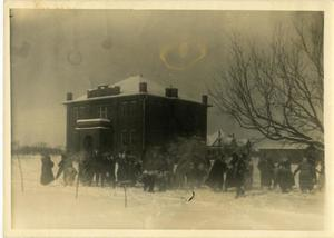 Primary view of object titled '[Photograph of Snowball Fight]'.