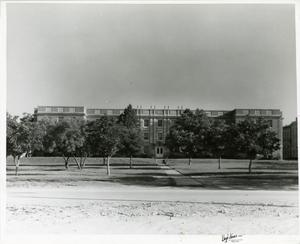 Primary view of object titled '[Photograph of Zellner Hall]'.