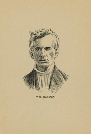 Primary view of object titled '[Line Drawing of William Hayden]'.