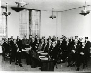Primary view of object titled '[Photograph of 1959 Board of Trustees]'.