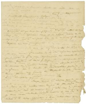 Primary view of object titled '[Letter from Lorenzo de Zavala to Jose Maria Gallegos, January 03, 1830]'.