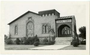 Primary view of object titled '[Photograph of Yuma, Arizona Meeting House]'.