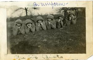Primary view of object titled '[Photograph of The Six Idiots]'.