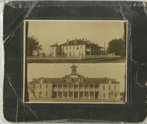 Primary view of object titled '[Photograph of Thorp Spring Christian College Buildings]'.