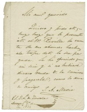 [Letter from Mexia to Zavala, January 1, 1833]