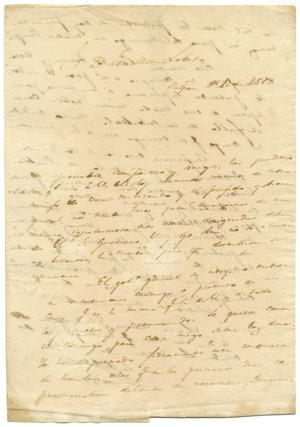 Primary view of object titled '[Letter from Lorenzo de Zavala to Jose Maria Lobato, December 20, 1828]'.