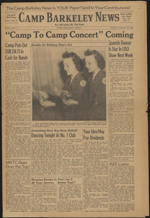 Primary view of object titled 'Camp Barkeley News (Camp Barkeley, Tex.), Vol. 3, No. 4, Ed. 1 Friday, March 10, 1944'.