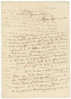 Primary view of object titled '[Letter from Lorenzo de Zavala to Ygnacio Martinez, September 26, 1828]'.
