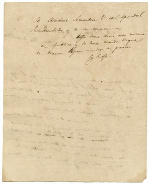 Thumbnail Image Of Item Number 2 In: U0027[Letter From Lorenzo De Zavala To