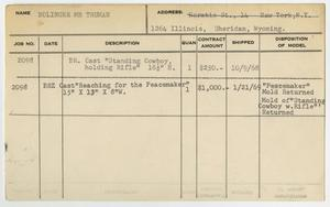Primary view of object titled '[Client Card: Mr. Truman Bolinger]'.