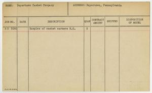 Primary view of object titled '[Client Card: Boyertown Casket Company]'.