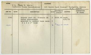 Primary view of object titled '[Client Card: Catholic Press Association]'.