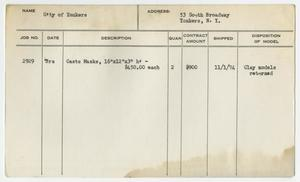 Primary view of object titled '[Client Card: City of Yonkers]'.