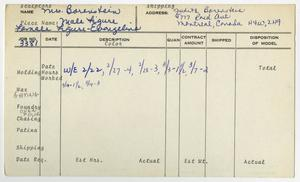 Primary view of object titled '[Client Card: Mrs. Judith Borenstein]'.