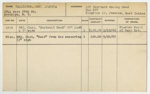 Primary view of object titled '[Client Card: Mrs. Juanita Ballinger]'.