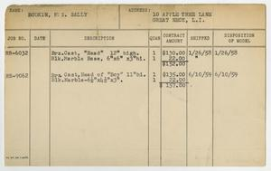 Client Card: Mrs. Sally Bodkin, Roman Bronze Works Client Card Index